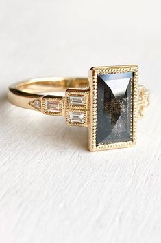 57 Eye-Catching Emerald Cut Engagement Rings ❤ emerald cut engagement rings gemstone vintage gold #weddingforward #wedding #bride