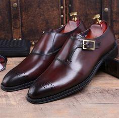 4895df024b4e3 Comprar Calidad marrón Negro Goodyear Welt zapatos de baile Zapatos de  vestir para hombre zapatos de cuero genuino zapatos de negocios zapatos de  hombre ...