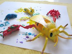 Bug Painting For Toddlers · Playdough Bug Sculptures · Egg Carton Caterpillar · Paper Plate Spider · Hand Print Butterfly