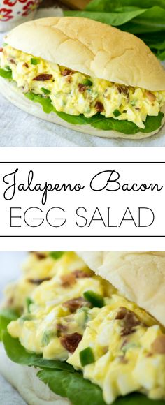 Creamy and spicy this Jalapeno Bacon Egg Salad is great to bring along to a picnic!
