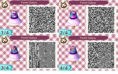 Pastel galaxy print dress: ACNL QR clothes