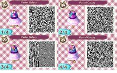 Pastel galaxy print dress: ACNL QR clothes