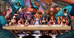 Alice in Wonderland, Last Supper Tea Party
