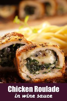 Chicken Roulade Like California Roll
