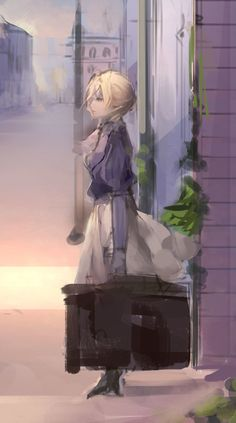 Violet Evergarden- Auto Memory Doll by Manga Anime, Anime Gifs, Manga Art, Anime Art, Violet Evergarden Gilbert, Violet Evergarden Wallpaper, Violet Evergreen, Violet Evergarden Anime, Violet Garden