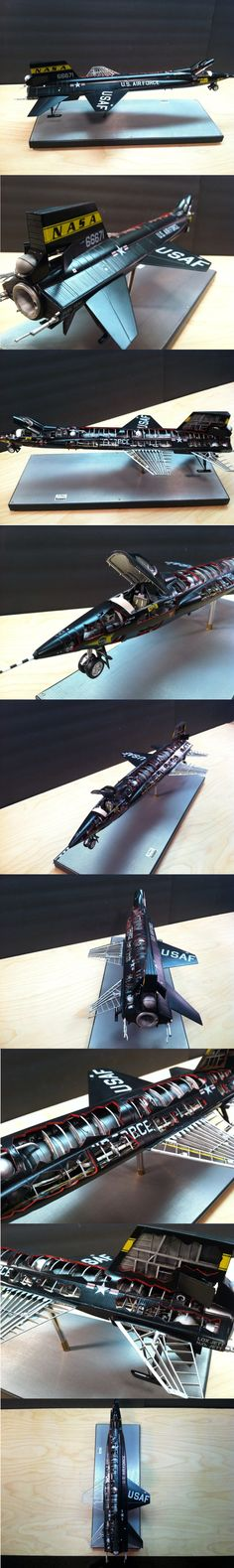 Awesome model of X-15. Unknown artist.  Makes me nostalgic for the early US space program.