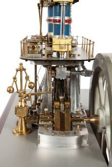 LIVE STEAM EXHIBITION SCALE MODEL LEAVITT PUMPING ENGINE. 16 x 27 x15 inches (40.6 x 68.6 x 38.1 cm)
