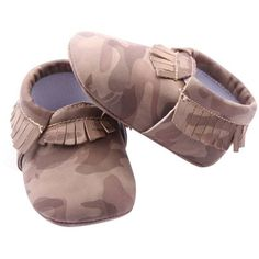 Pre-Walking Camouflage Moccasin Slippers
