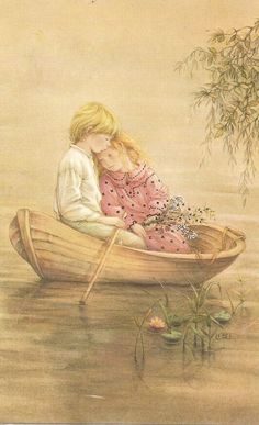 Oh, Lisi! I say this is one of you're best, this sweet couple, boating! by Lisi Martin Vintage Pictures, Vintage Images, Illustration Noel, Cosy Christmas, Hobby Horse, Spanish Artists, Holly Hobbie, Kawaii, Couple Art