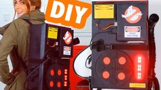 DIY :: Mochila Caça Fantasmas! GhostBusters Fantasia/Decor Ghostbusters Trunk or treat Diy