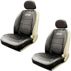 Jeep Logo Car Truck SUV Front Low Back Sideless Bucket Seat Covers w/ Head Rest Covers- PAIR by LA Auto Gear, http://www.amazon.com/dp/B008EMDRZ6/ref=cm_sw_r_pi_dp_G9i1rb0KCCY93
