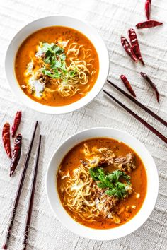 Chiang Mai Curry Noodles Vegan: beef ~> celery & carrots  egg noodles ~> Rice noodles  Maybe try brown rice noodles and make sure they are cooked all the way thru