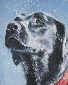 Labrador Retriever art print CANVAS print of LA by TheDogLover, $19.99