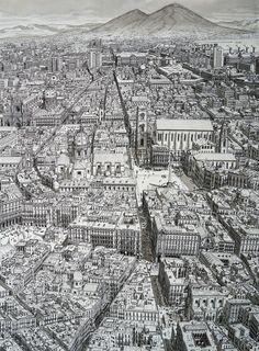 Stefan Bleekrode dessine des Villes entières seulement avec sa Mémoire (2)
