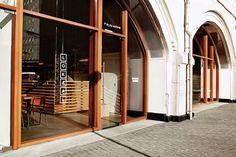 Lokaal espresso-bar by weaponofchoice in rotterdam, the netherlands yatzer Shop Interior Design, Cafe Design, Retail Design, Signage Design, Storefront Signage, Window Signage, Rotterdam, Retail Facade, Book Cafe