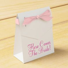 Modern Bridal Shower Favor Box