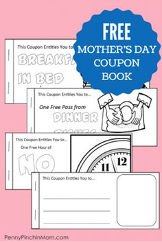 Fun Free Mothers Day Coupon Book