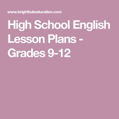 High School English Lesson Plans - Grades 9-12 English Lesson Plans, English Lessons, Writing Lessons, Teaching Writing, Scary Poems, Teaching Short Stories, Literary Elements, Middle School English, High School Classroom