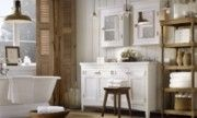 Love the divider in the corner & the white with darker wood