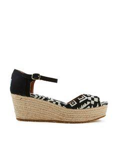 Toms Platform Wedge Woven Sandals