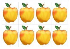 Яблоки. Раздаточный материал для счета. ФЭМП