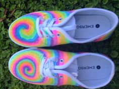 Sharpie Tie-dye canvas shoes by MandalaPath on Etsy