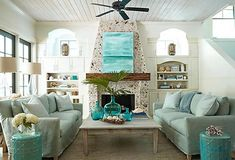 'Carmel by the Sea' inspired room... Love the fireplace & all of the whimsical elements!