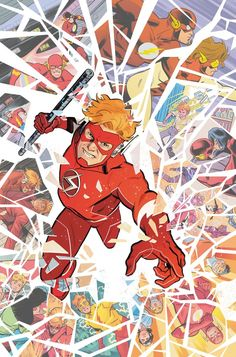 Every Wally West Era Referenced On the Flash Forward Cover Batman City, Batman And Superman, Batman Comics, Flash Comics, Arte Dc Comics, Wally West, Kid Flash, Nightwing, Flash Wallpaper