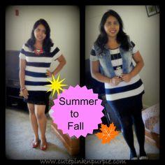 cutepinknpurple: OOTD : summer to fall Transition !!