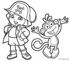Dora Mermaid Coloring Pages Coloring Pages For Kids Coloring