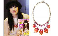 Carly Rae Jepsen wearing the Spring Awakening Necklace by Stella & Dot