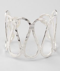 Take a look at this Silver Wavy Cuff by ZAD on #zulily today!
