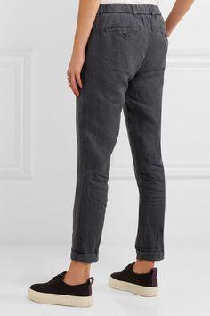 James Perse - Linen Tapered Pants - Dark gray - 3