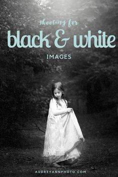Some great tips for shooting for black and white images, or when it's a good idea to convert them.