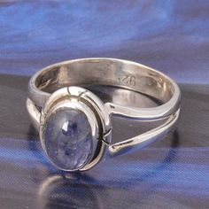 925 STERLING SILVER FANCY LADIS TANZANITE RING 2.80g DJR4845 #Handmade #Ring