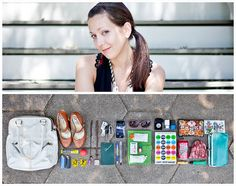 what's in your bag diptych, portrait through belongings