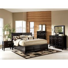 Martini Suite Storage Platform Bedroom Set