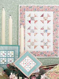 Shoo-Fly Miniatures What do you do when you have small pieces of Depression-era fabric that are too small to cut into full-size quilt pieces? You make a miniature reproduction quilt or even a mini-mini-quilt Free Download