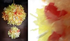 Aunt Peaches: Friday Flowers: Coffee Filter Daisies and Dahlias