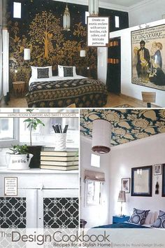 Stencils on walls, ceilings and furniture