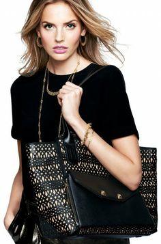 The Shift - Black Perf   StellaDot.com/KrystalS.  #obsessed with #stelladot starting at $24.   #fab #jewelry #handbags