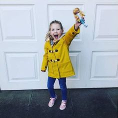 """""""The first Lottie doll we had & we love her. My daughter has a yellow mac & they look so cute together"""" Yellow Rain Jacket, Corduroy Shorts, Hooded Raincoat, Doll Eyes, Design Competitions, Striped Leggings, Doll Hair, Boy Doll, Designer Boots"""