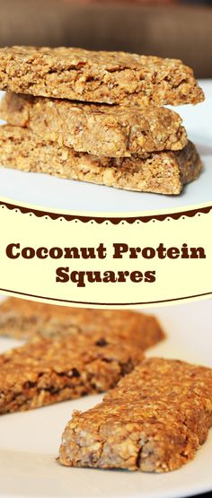 Coconut Protein Squares | thedessertangel.com | I've received several requests for healthy homemade protein treats in recent weeks, so I thought I'd share what I usually make. These are great for post-workout or to refuel mid-day before you grab your next meal. #glutenfree