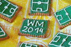 Fußball - Kekse für eine Fußballparty / Weltmeisterschaft. #Rezept #EM #WM #Fußball