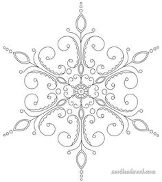Snowflake Hand Embroidery Pattern                                                                                                                                                                                 More