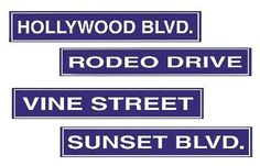 Hollywood street signs