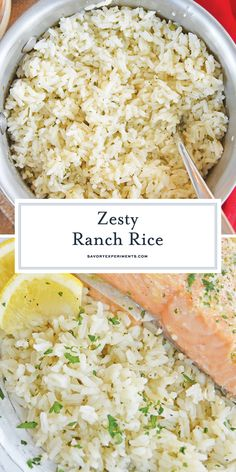 EASY and Flavorful Ranch Rice Recipe - BEST Ranch Seasoned R.- This EASY Ranch Rice recipe is a super versatile side dish that will add gentle flavor to any dinner you are serving. A great way to use a pantry staple! Seasoned Rice Recipes, White Rice Recipes, Easy Rice Recipes, Rice Recipes For Dinner, Side Dish Recipes, Minute Rice Recipes, Recipes Using Rice, Jasmine Rice Recipes, Healthy Recipes