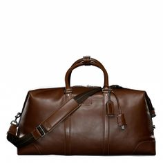 Coach Transatlantic leather travel carry-on