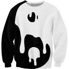 Big Drippy Yin Yang Sweatshirt featuring polyvore, fashion, clothing, tops, hoodies, sweatshirts, shirts, sweaters, sweatshirt shirts, sweatshirts hoodies, sweat tops, sweat shirts and shirts & tops