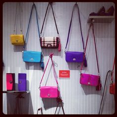 A wall of Coach bags!,COACH KRISTIN ELEVATED LEATHER SAGE ROUND SATCHEL,fashion coach bags coming,just $44.99